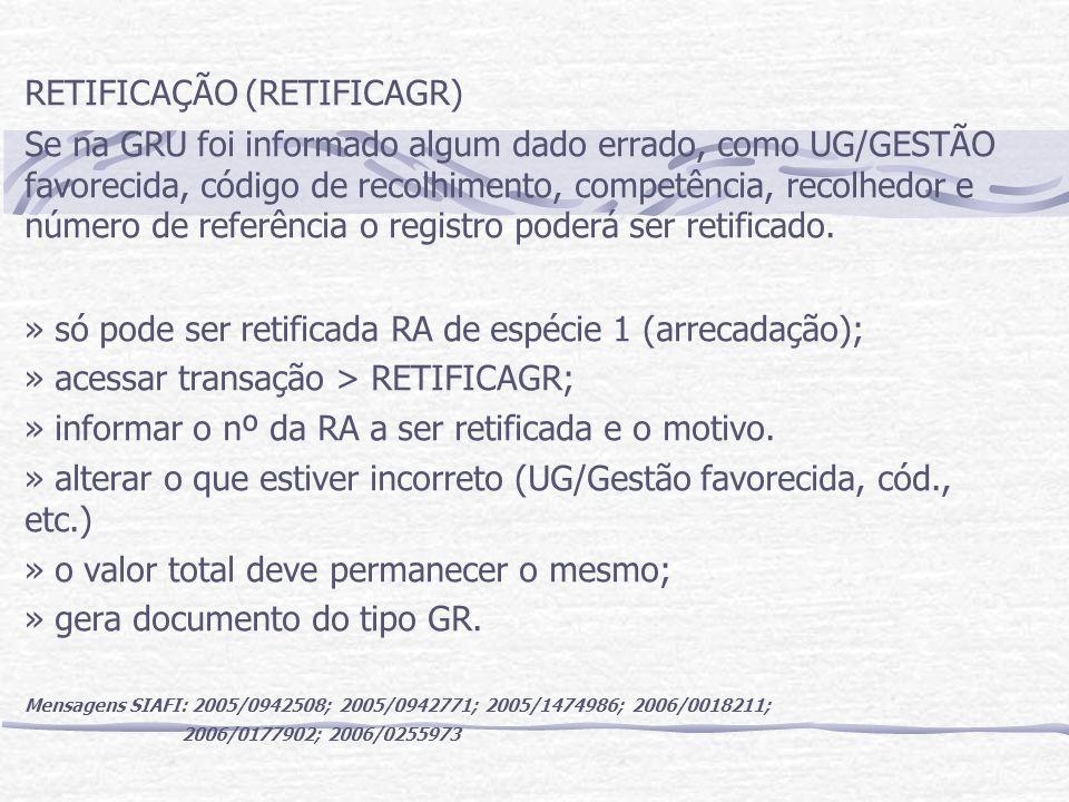 RETIFICAÇÃO (RETIFICAGR)