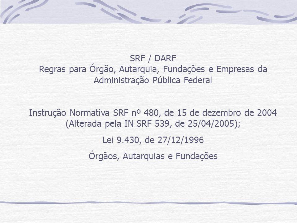 Instrução Normativa SRF nº 480, de 15 de dezembro de 2004