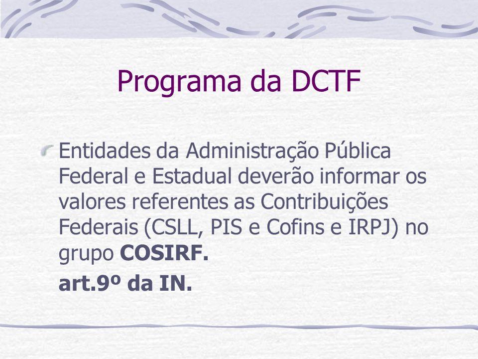 Programa da DCTF