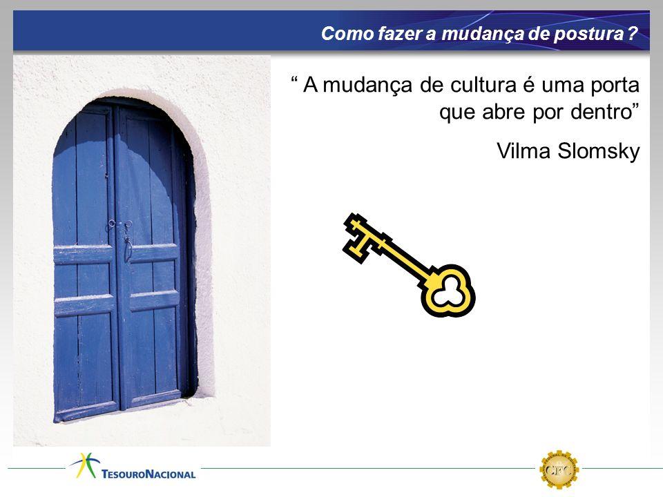 A mudança de cultura é uma porta que abre por dentro Vilma Slomsky