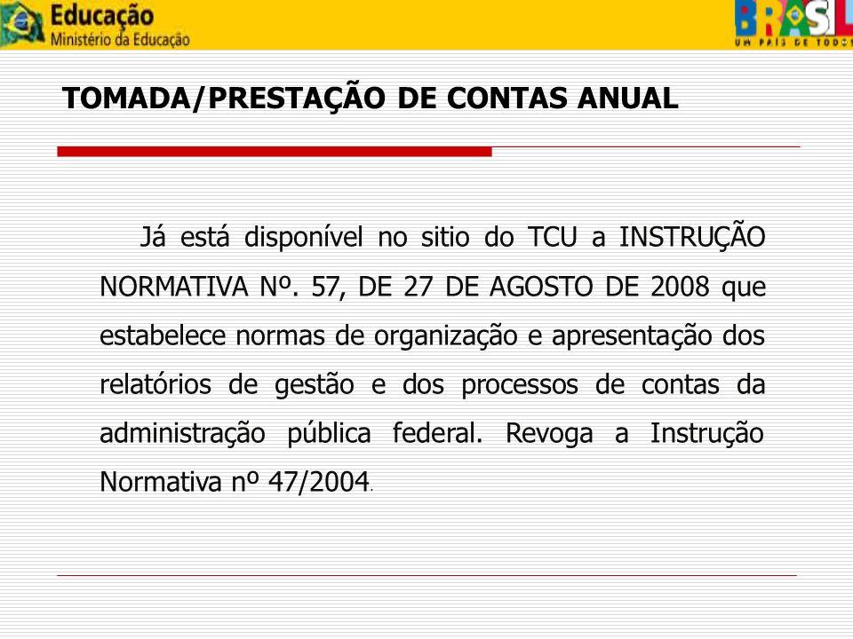 TOMADA/PRESTAÇÃO DE CONTAS ANUAL