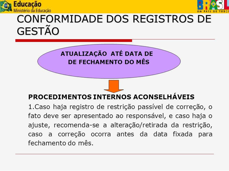 ATUALIZAÇÃO ATÉ DATA DE