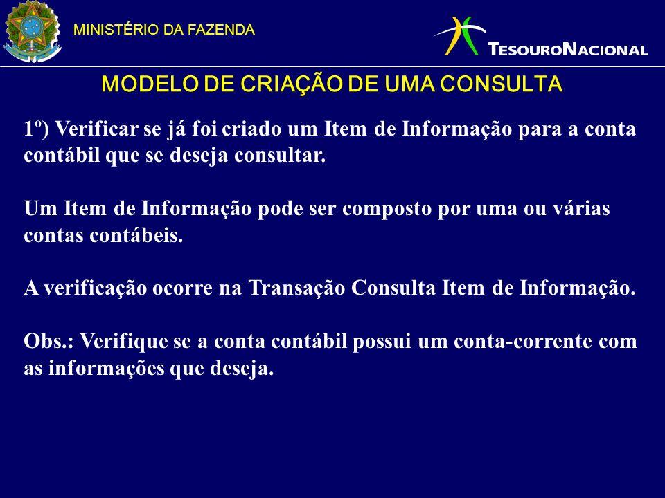 MODELO DE CRIAÇÃO DE UMA CONSULTA