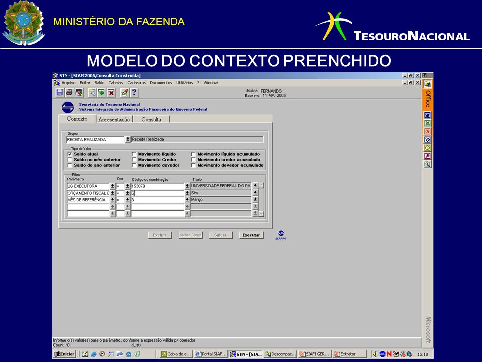 MODELO DO CONTEXTO PREENCHIDO