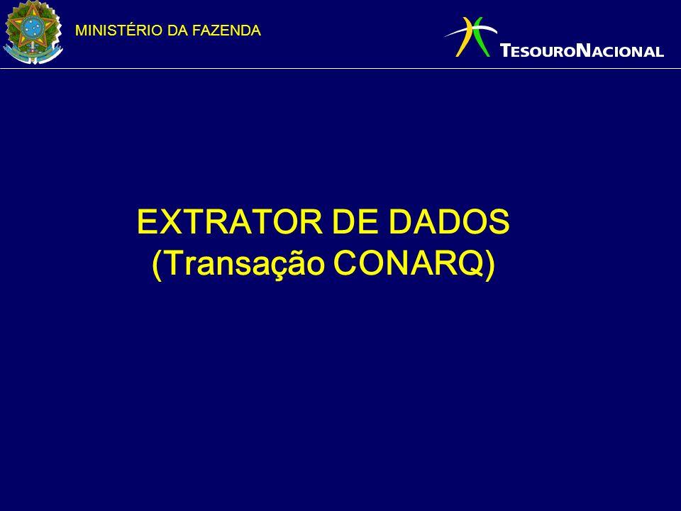 EXTRATOR DE DADOS (Transação CONARQ)