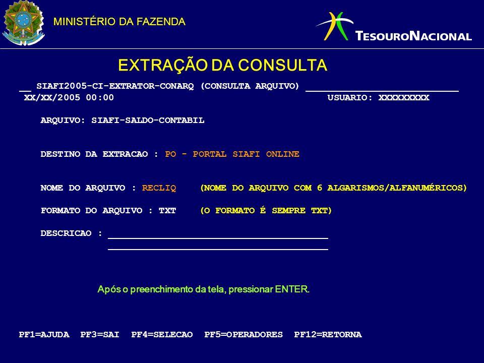 EXTRAÇÃO DA CONSULTA __ SIAFI2005-CI-EXTRATOR-CONARQ (CONSULTA ARQUIVO) ___________________________.
