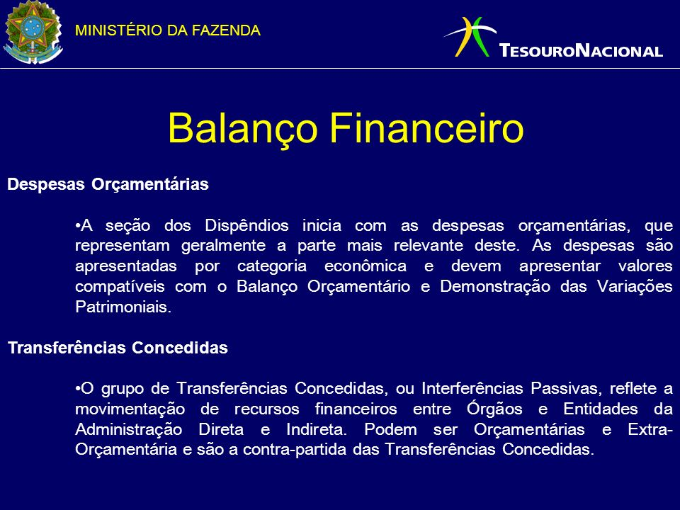 Balanço Financeiro Despesas Orçamentárias