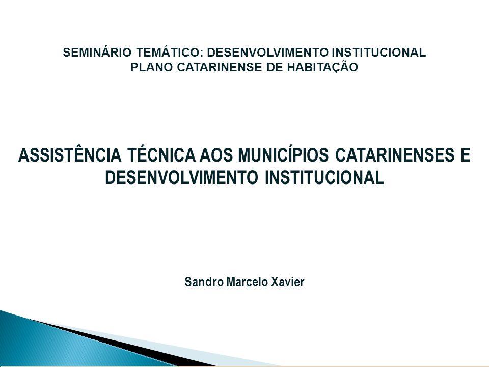 SEMINÁRIO TEMÁTICO: DESENVOLVIMENTO INSTITUCIONAL