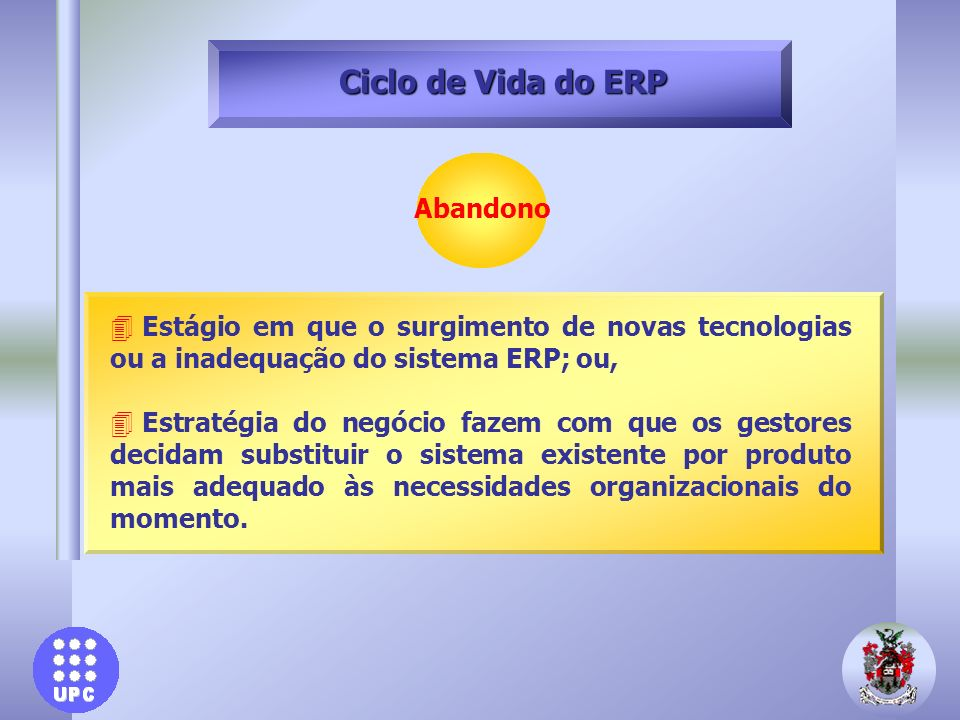 Ciclo de Vida do ERP Abandono