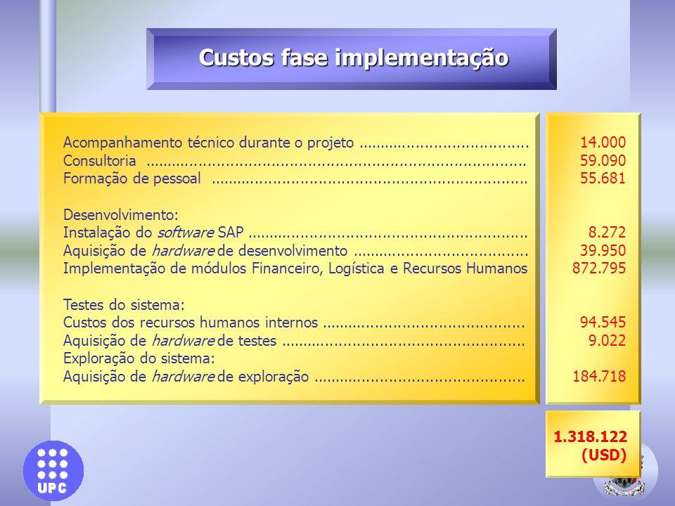 Custos fase implementação