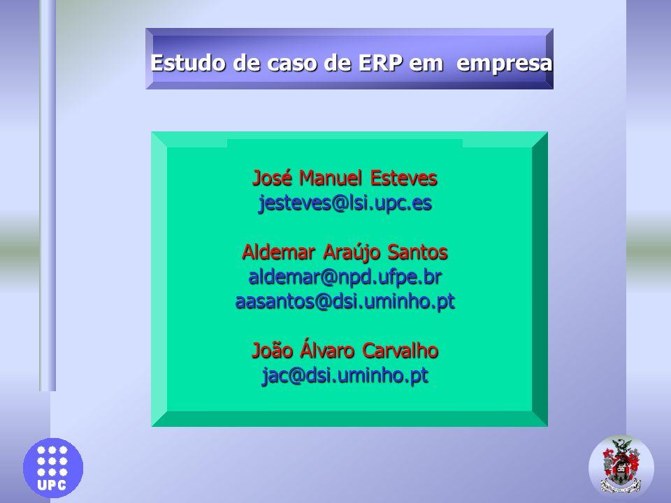 Estudo de caso de ERP em empresa