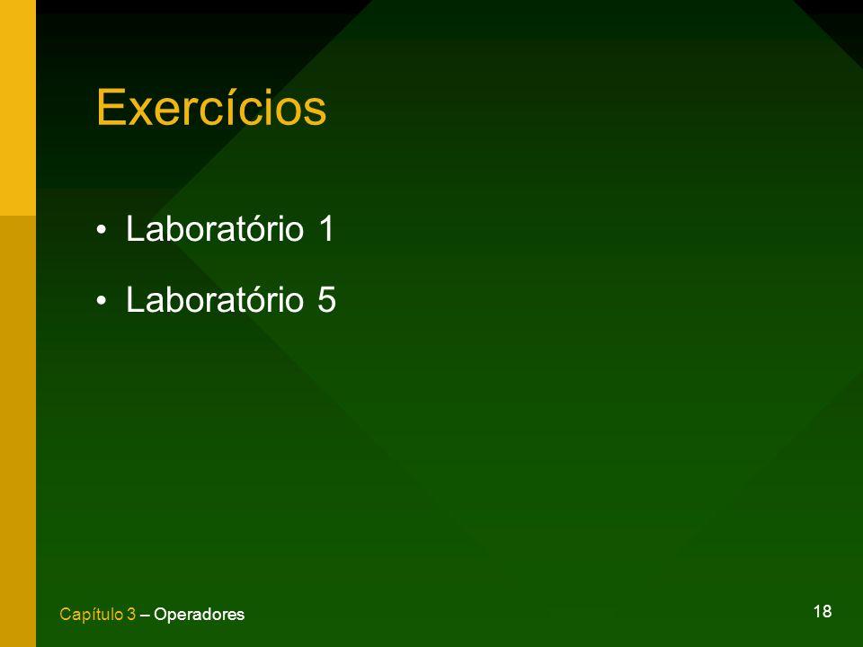 Exercícios Laboratório 1 Laboratório 5