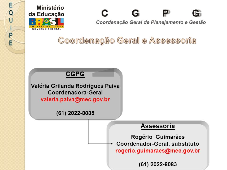 Coordenação Geral e Assessoria