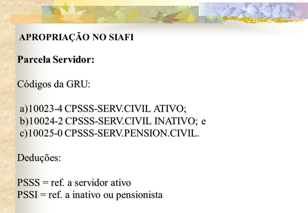 a)10023-4 CPSSS-SERV.CIVIL ATIVO;