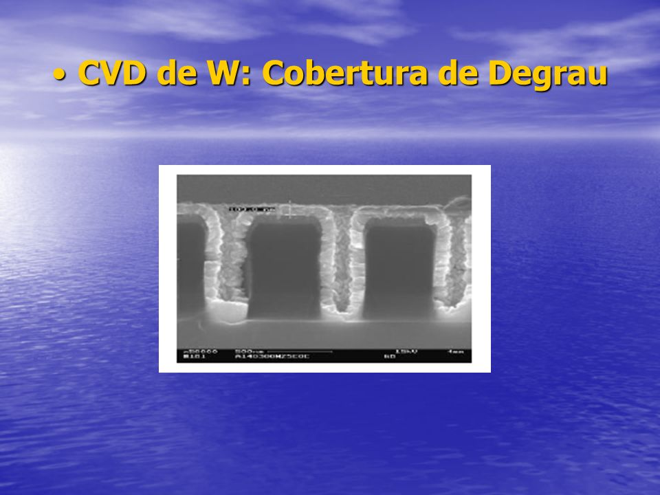 CVD de W: Cobertura de Degrau