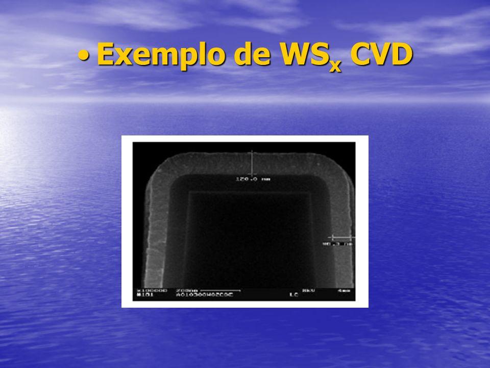 Exemplo de WSx CVD