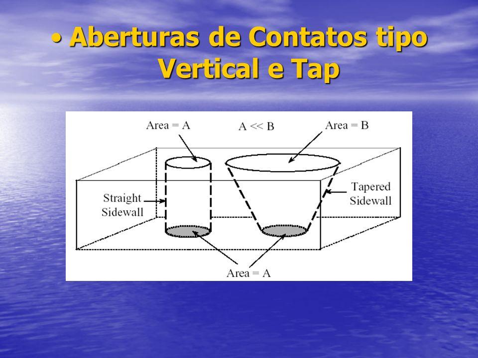 Aberturas de Contatos tipo Vertical e Tap