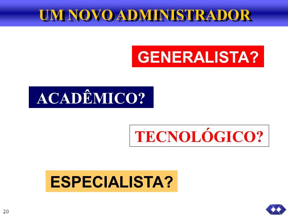 GENERALISTA ACADÊMICO TECNOLÓGICO ESPECIALISTA