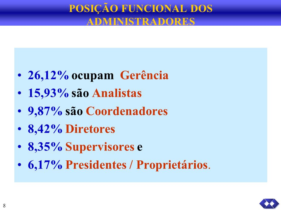 POSIÇÃO FUNCIONAL DOS ADMINISTRADORES