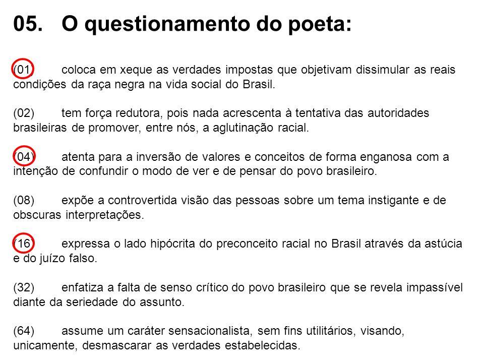 05. O questionamento do poeta: