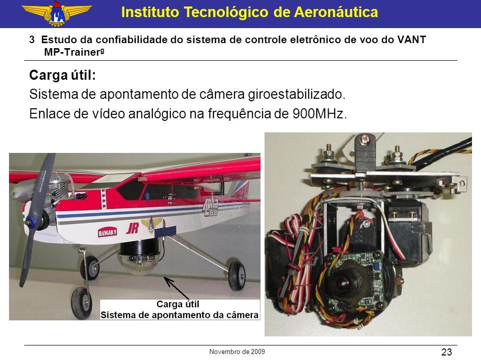 Sistema de apontamento de câmera giroestabilizado.