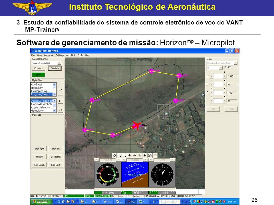 Software de gerenciamento de missão: Horizonmp – Micropilot.