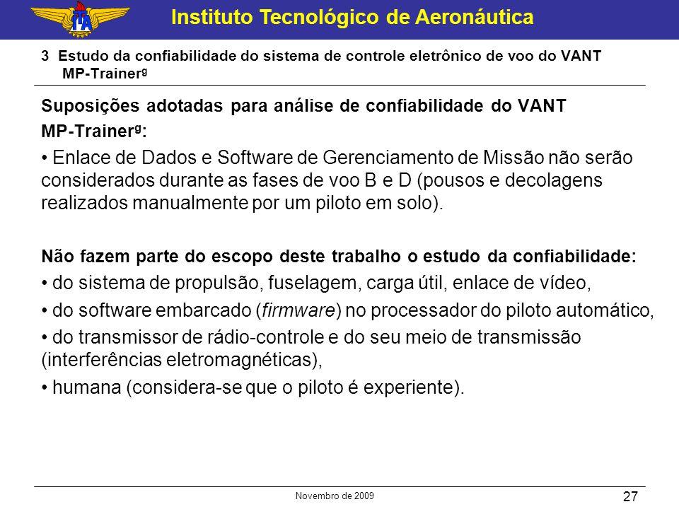 do sistema de propulsão, fuselagem, carga útil, enlace de vídeo,