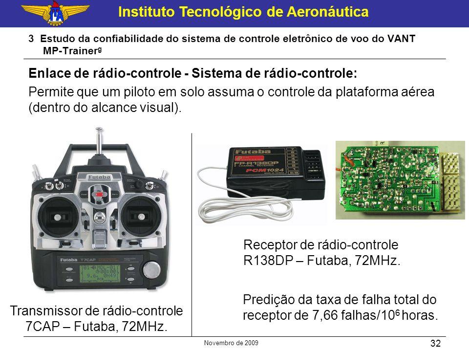 Transmissor de rádio-controle 7CAP – Futaba, 72MHz.