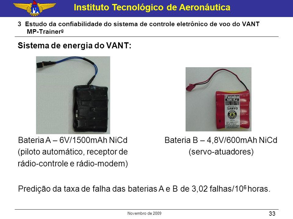 Sistema de energia do VANT: