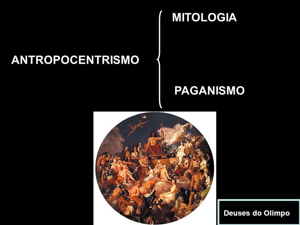 MITOLOGIA ANTROPOCENTRISMO PAGANISMO Deuses do Olimpo