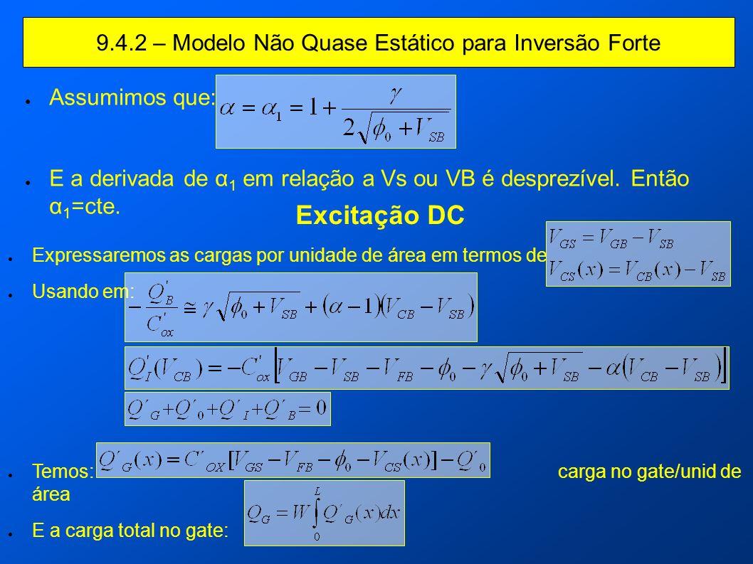 9.4.2 – Modelo Não Quase Estático para Inversão Forte