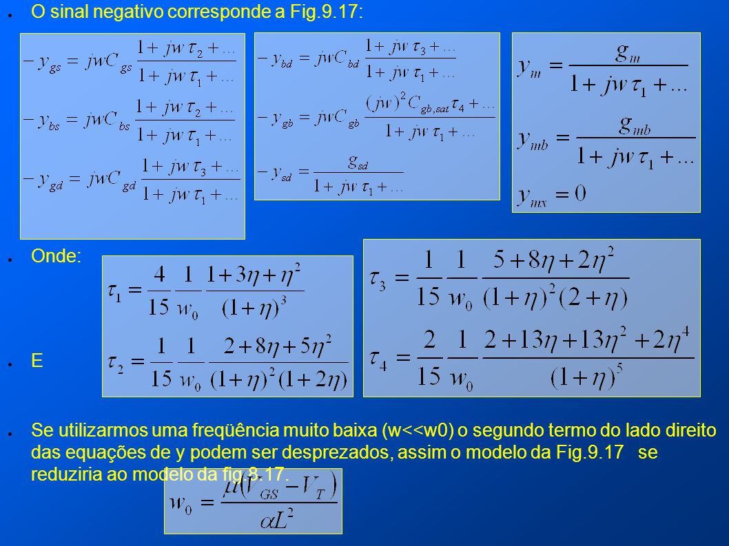 O sinal negativo corresponde a Fig.9.17: