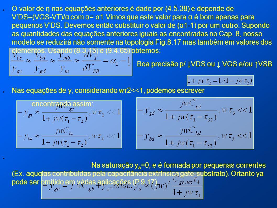 O valor de η nas equações anteriores é dado por (4. 5