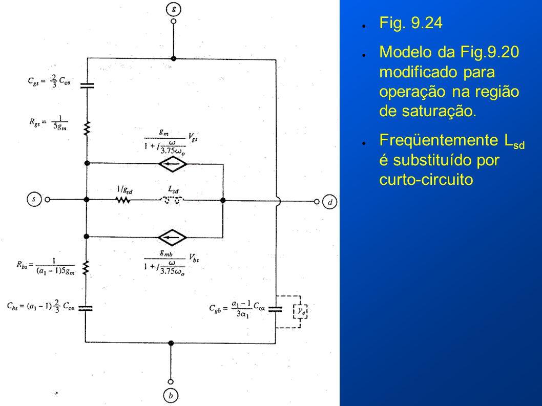 Fig. 9.24 Modelo da Fig.9.20 modificado para operação na região de saturação.