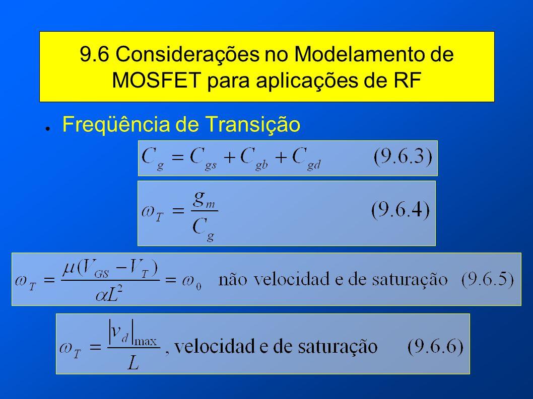 9.6 Considerações no Modelamento de MOSFET para aplicações de RF
