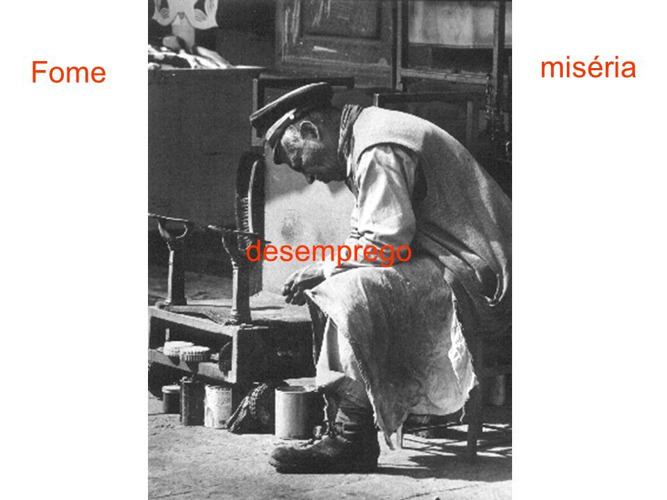 miséria Fome desemprego