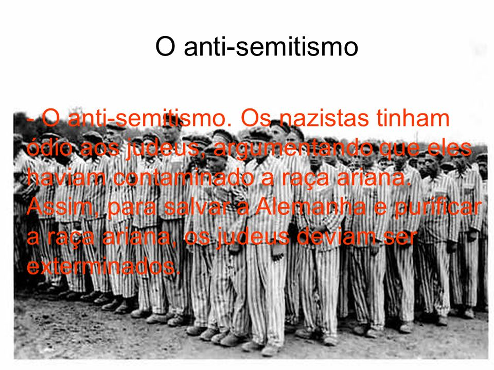 O anti-semitismo