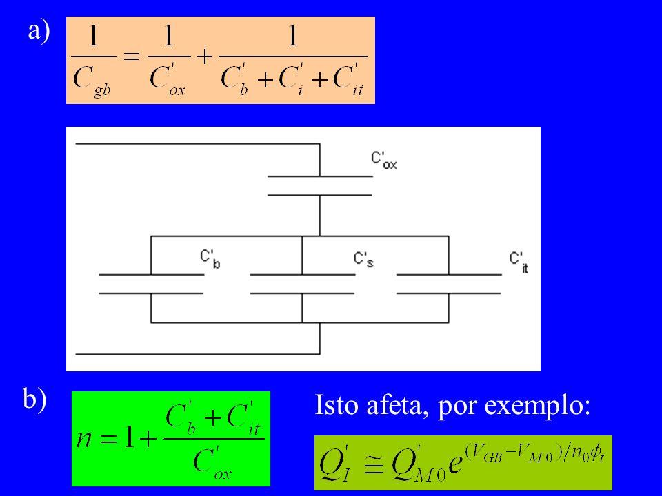 a) b) Isto afeta, por exemplo: