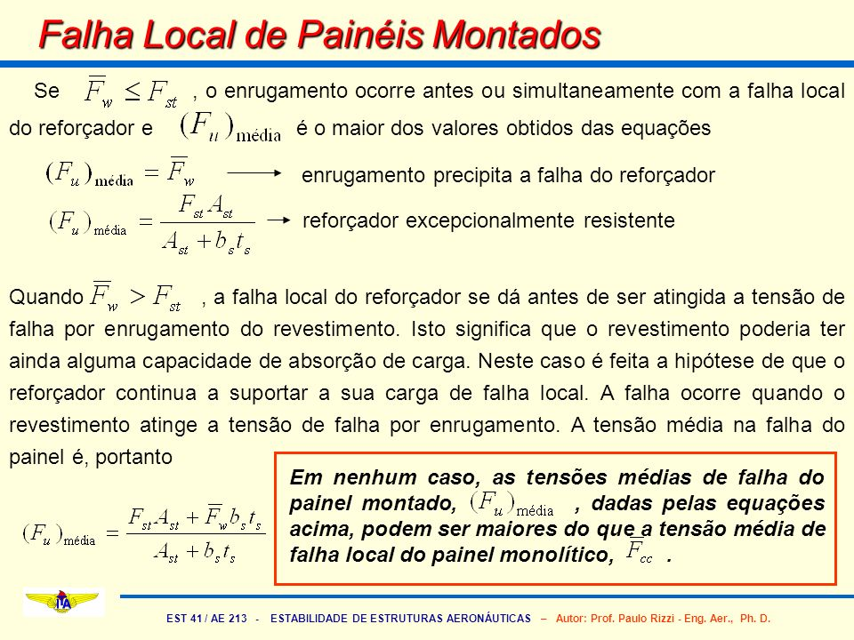 Falha Local de Painéis Montados