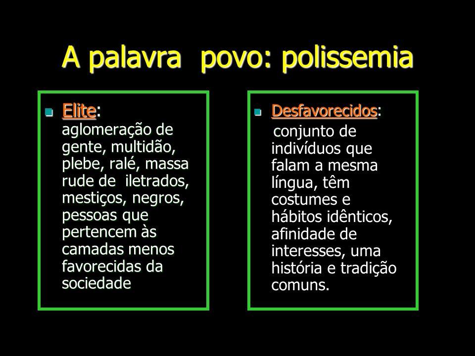 A palavra povo: polissemia