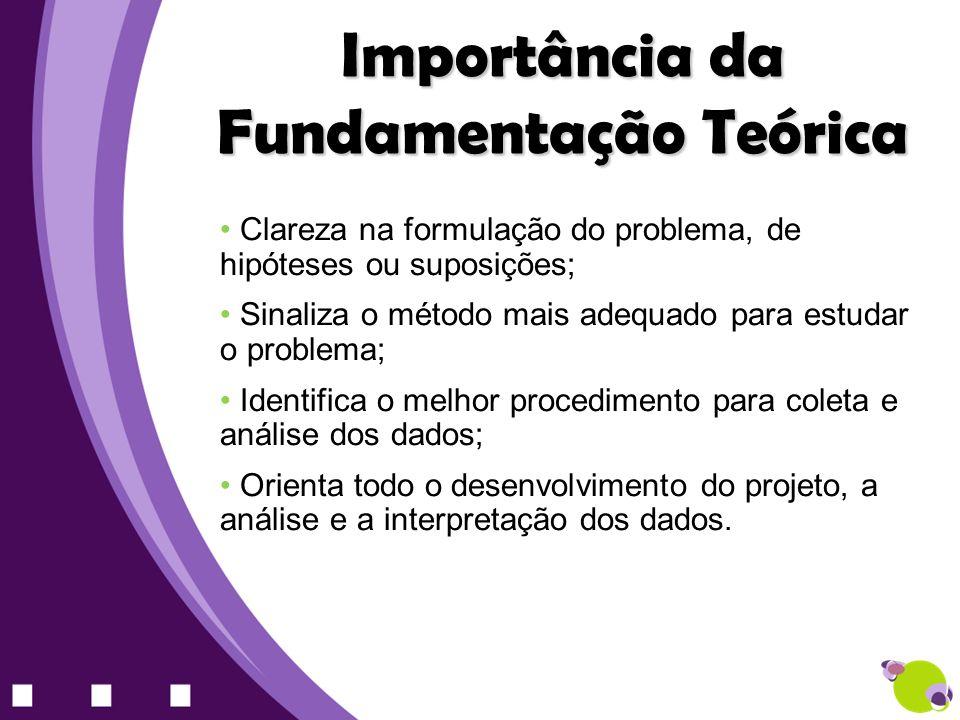 Importância da Fundamentação Teórica
