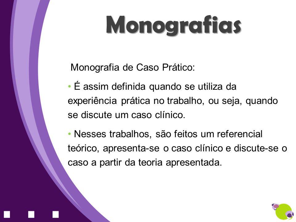 Monografias Monografia de Caso Prático: