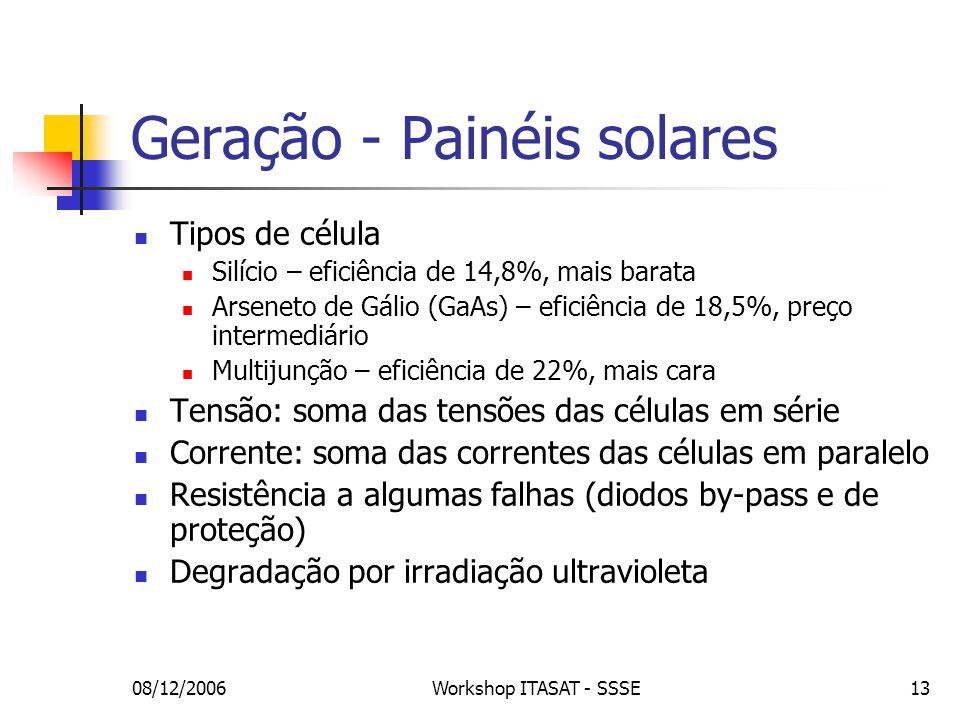 Geração - Painéis solares