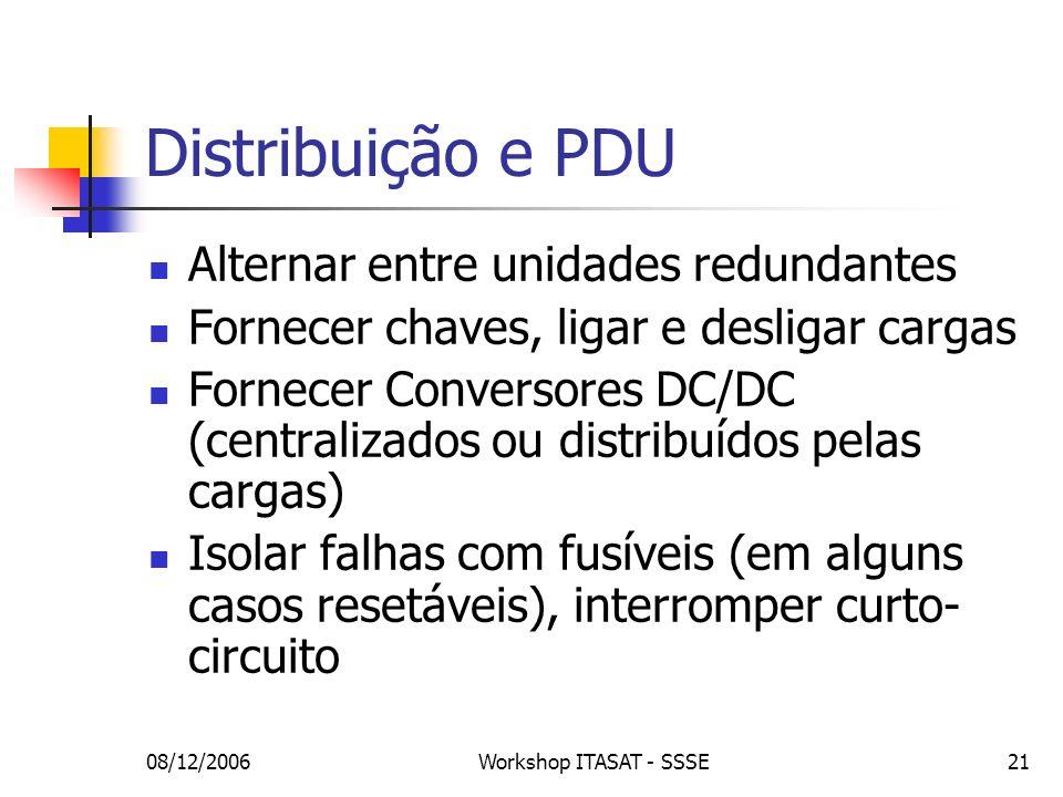 Distribuição e PDU Alternar entre unidades redundantes