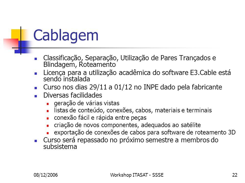 Cablagem Classificação, Separação, Utilização de Pares Trançados e Blindagem, Roteamento.