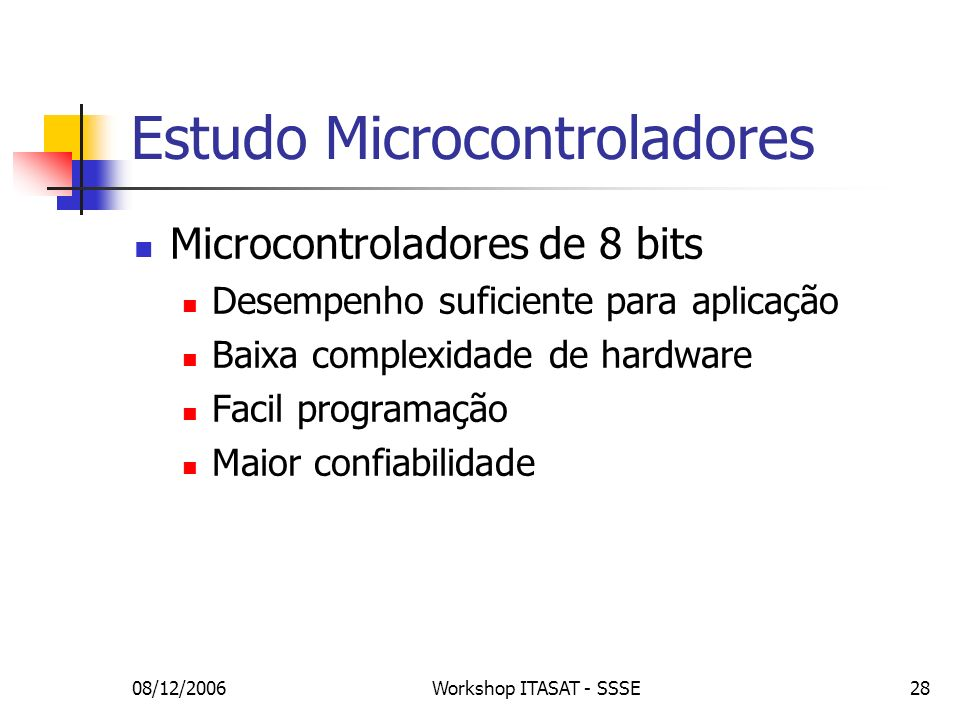 Estudo Microcontroladores