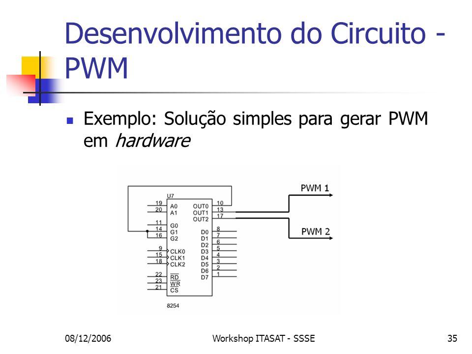 Desenvolvimento do Circuito - PWM