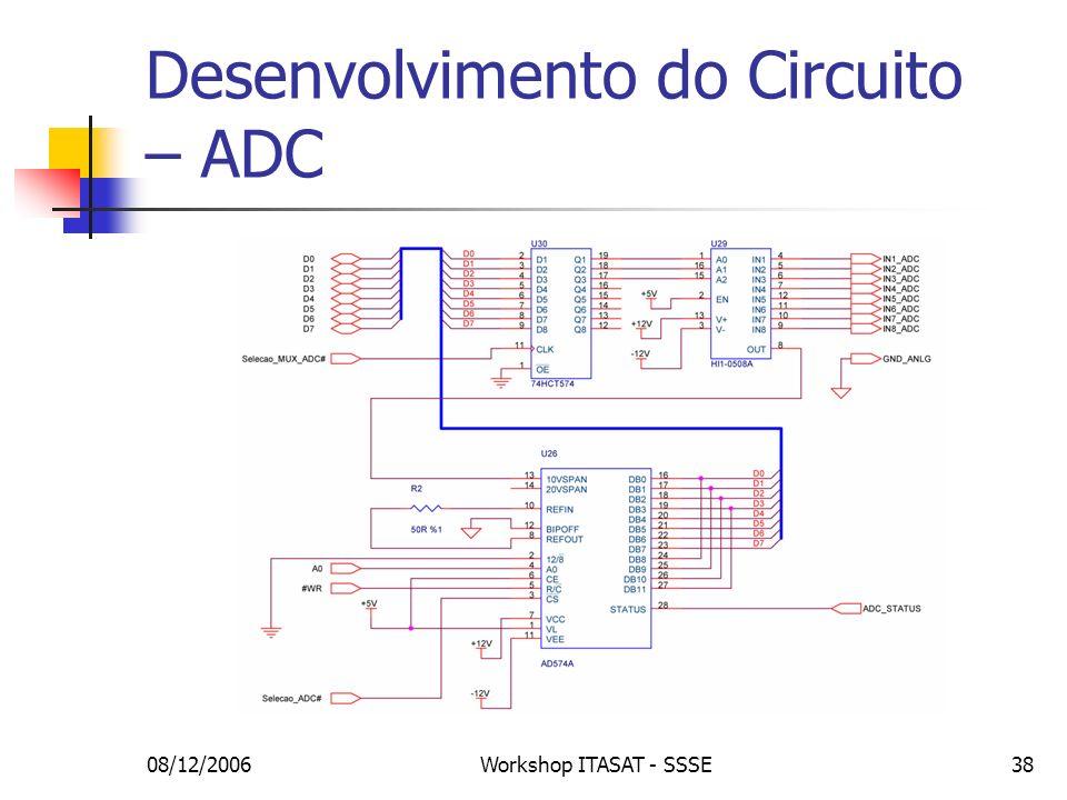 Desenvolvimento do Circuito – ADC