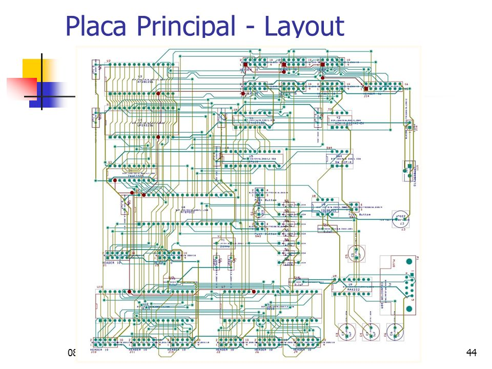 Placa Principal - Layout
