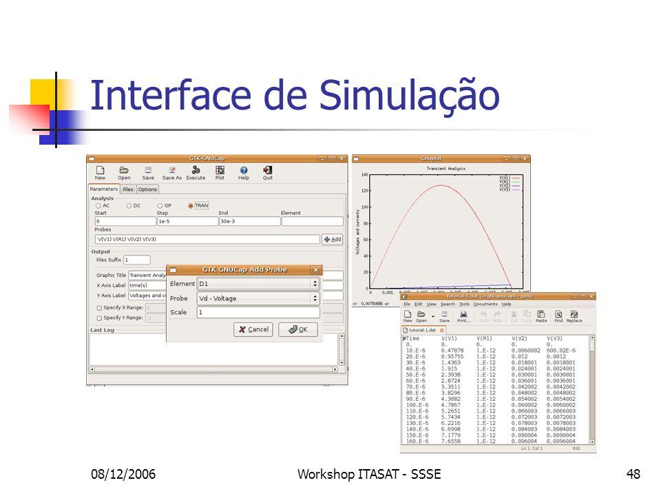 Interface de Simulação